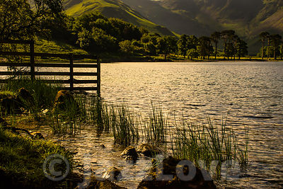Sunset over Buttermere lake.