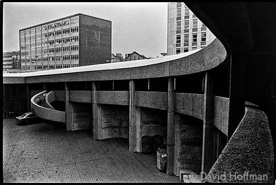 Barbican 1975 Photographs from around Brunswick Centre, London Wall and Barbican to show the architectural anomie and dehuman...
