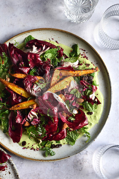 Roasted Carrot Radicchio Salad