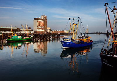 Breskens harbour, The Netherlands.