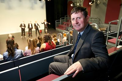 Paston Sixth Form College has spent £1.5M revamping it's theatre and art based courses building pictured is principal Kevin G...