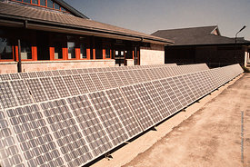 #4820,  Solar panels from BP, The Lord Byron School, Leninakan (now Gyumri), Armenia.  At 11.41am on the 7th December 1988, A...