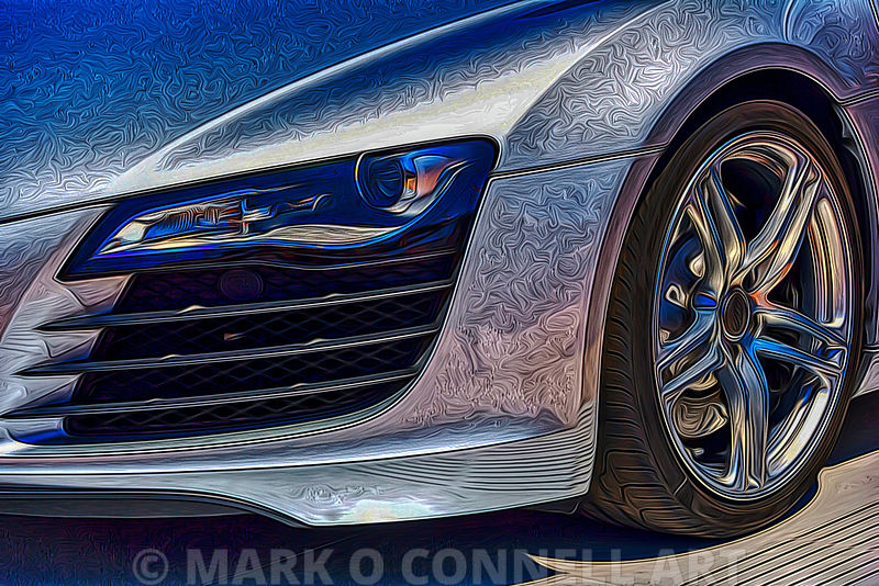 art,painting,airbrush,power,sports car,wheel,hub,audi