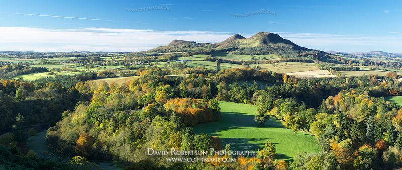 Image - Eildon Hills from Scott's View Panorama, Scottish Borders