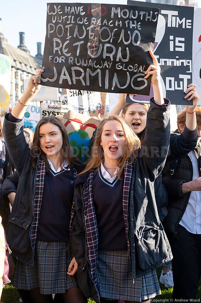 England, UK . 15.2.2019. London . School students Climate Strike - thousands of pupils abandon lessons demanding action to sa...