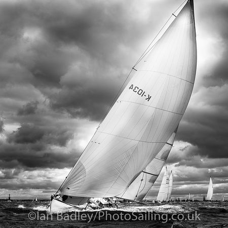 Classic yacht and stormy sky (Square)