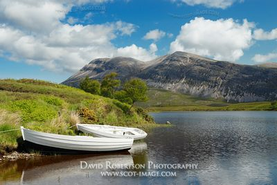 Image - Loch Stack and Arkle, Sutherland, Small Boats