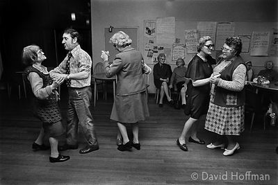 St Hilda's old people's club, Club Row, Shoreditch 1975.