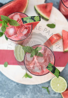 watermelon mint and lime agua fresca water