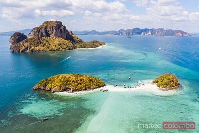 Aerial view of islands, Railay, Krabi province, Thailand