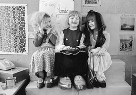 #77332,  Dressing up, Vittoria Primary School, Islington, London.  1970.