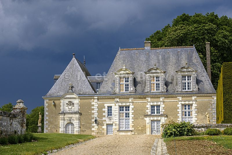 Château de Valmer, dated 16 th. century renaissance style, Chancay, Indre et Loire, France