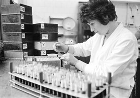 #124453,  Scientist (civil servant) at the Central Veterinary Laboratory, 1973.
