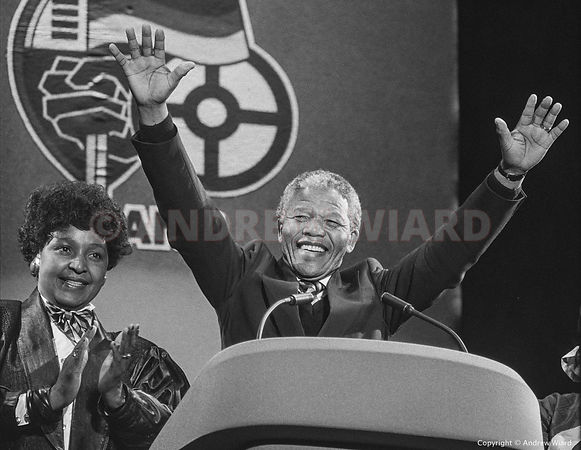 NELSON MANDELA AT WEMBLEY, APRIL 16th 1990