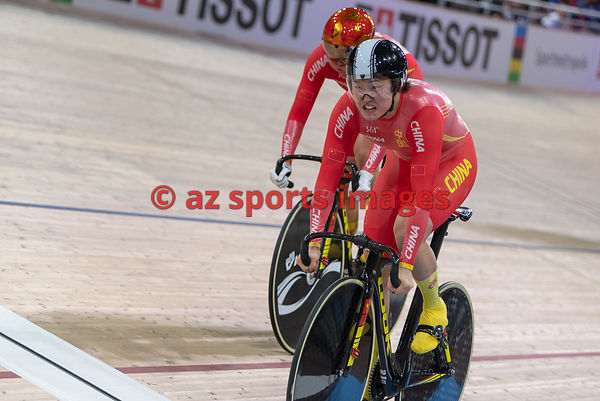 Women 's Team Sprint finals - China - CHEN Feifei, ZHONG Tianshi