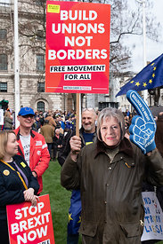 #124566,  Anti-Brexit march to Parliament Square, London, 23rd March 2019.  A million people of all ages marched demanding a ...