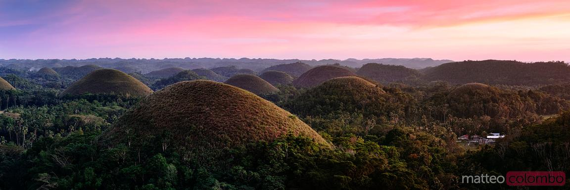 Chocolate hills panoramic, Carmen, Bohol, Philippines