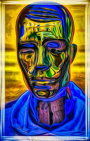 art,man,mannequin,metal,painting,airbrush,abstract