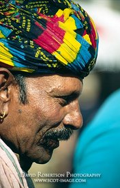 Image - Colourful turban, Edinburgh Festival, Scotland