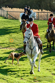 Chris Edwards at the meet. The Pytchley Hounds visit the Cottesmore at Town Park Farm 15/1