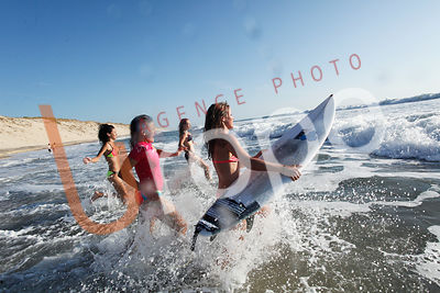 Photo de surf avec figurants