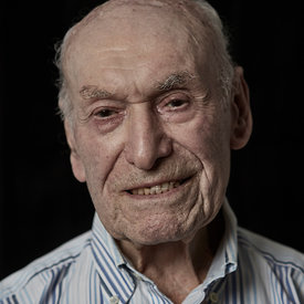 Gerry Abrahams one of the last surviving members of the 43 Group. London, UK