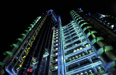 Lloyds of London Building by Night