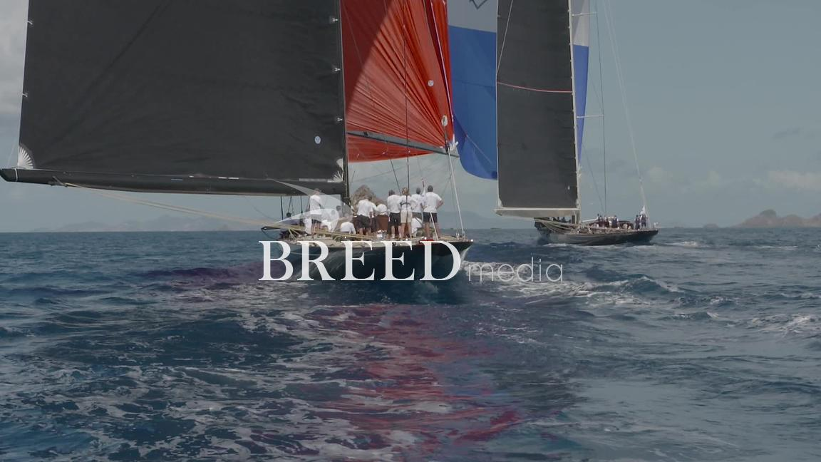 J Class Sailing Yachts Stock Footage