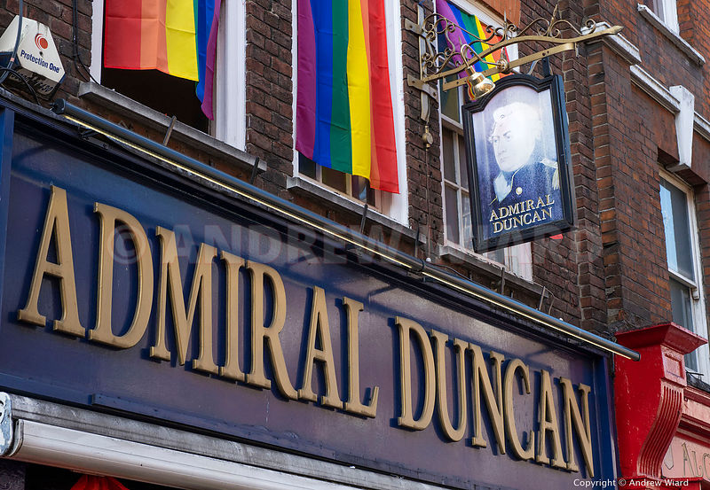 England, UK .30.4.2019. London . 20th Anniversary of the nail bombing of Soho pub the Admiral Duncan, killing three people an...