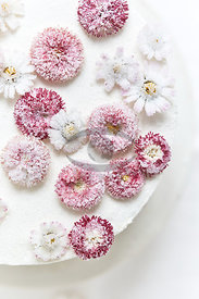 Cakes with flowers
