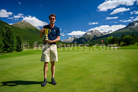 Samedan: 50. St. Moritz Gold Cup 04.07.2020 bis 05.07.2020.Brutto - Gold Cup.1 Huth, Max-Fabian Engadine Golf Club 71