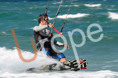 Photo de kitesurf avec figurants