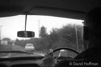 Arthur Hoffman Driving Ford Consul, 1960s