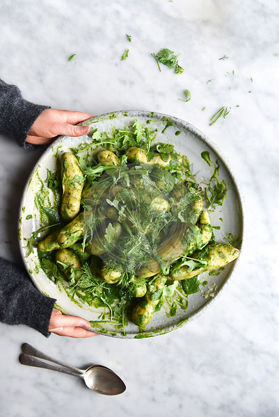 Green Potato Salad