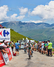 Group of Cyclists at the Realimentation Point - Tour de France 2013