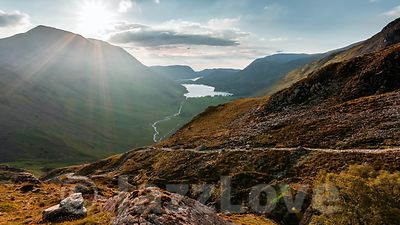 View from Warnscale on Buttermere lake.