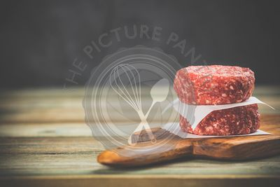raw burgers - cutlets from organic beef meat