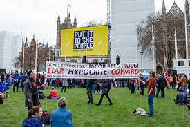 #124557,  Anti-Brexit march to Parliament Square, London, 23rd March 2019.  A million people of all ages marched demanding a ...