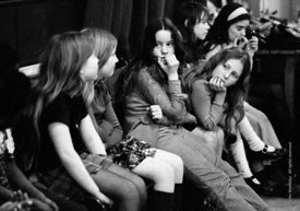 #74736, Anna Scher Children's Theatre, Bentham Court Hall, Islington, North London 1972.  Kids would come after school and be...