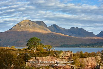 Image - Beinn Alligin across Upper Loch Torridon from Aird Mhor, Torridon, Wester Ross, Highland, Scotland