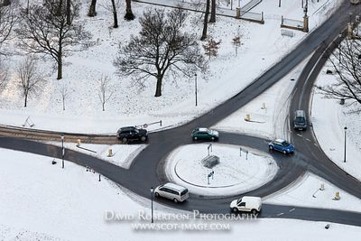 Image - Vehicles on a roundabout in Holyrood Park, Edinburgh, Scotland