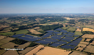 Solar Farm at Redstocks near Melksham from the air
