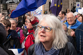 #124582,  Anti-Brexit march to Parliament Square, London, 23rd March 2019.  A million people of all ages marched demanding a ...