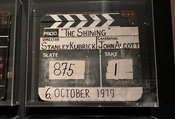 Clapperboard from film The Shining made at Elstree  Studios in 1979