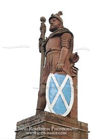 Image - Wallace Monument near Dryburgh, Scotland, on white background