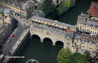Pulteney Bridge Bath Somerset  from the air