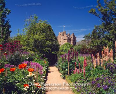 Image - June Border Garden, Crathes Castle, Aberdeenshire, Scotland