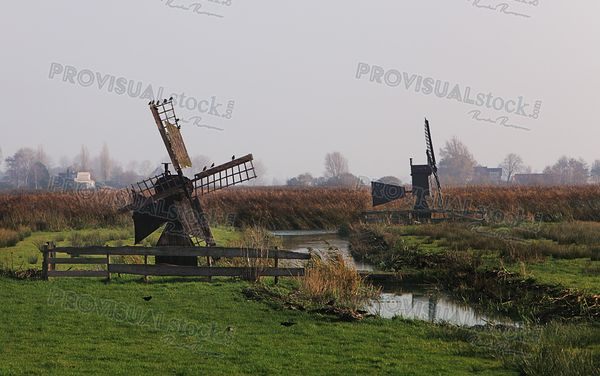 Old Dutch windmills