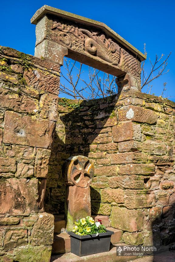 ST BEES 25A - Lintel and Cross, St Bees Priory