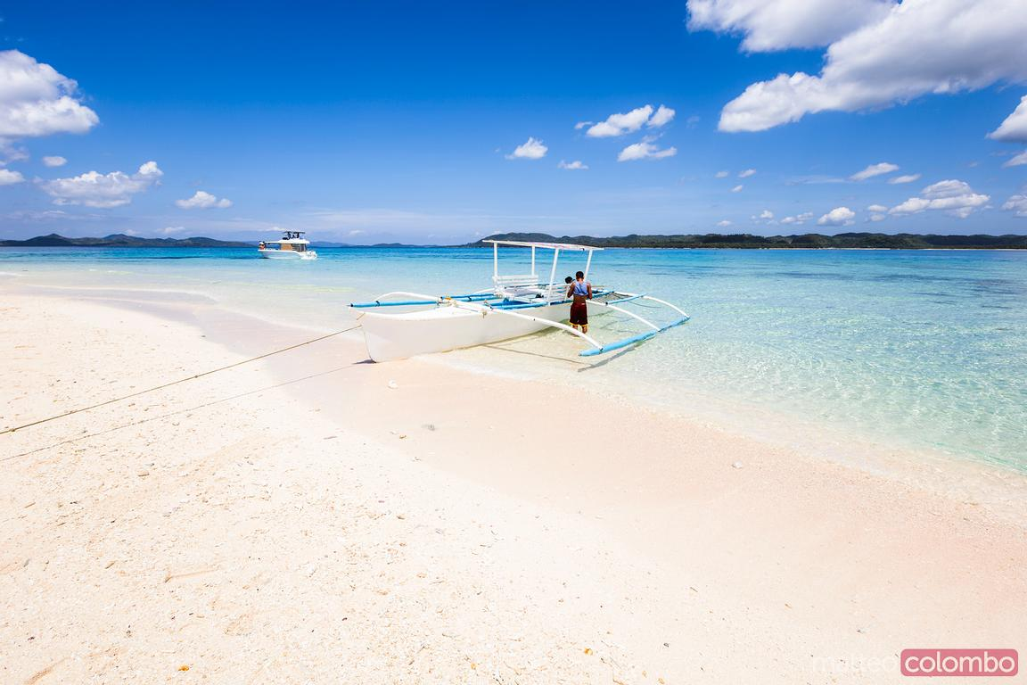 Sandy beach, Naked island, Siargao, Philippines